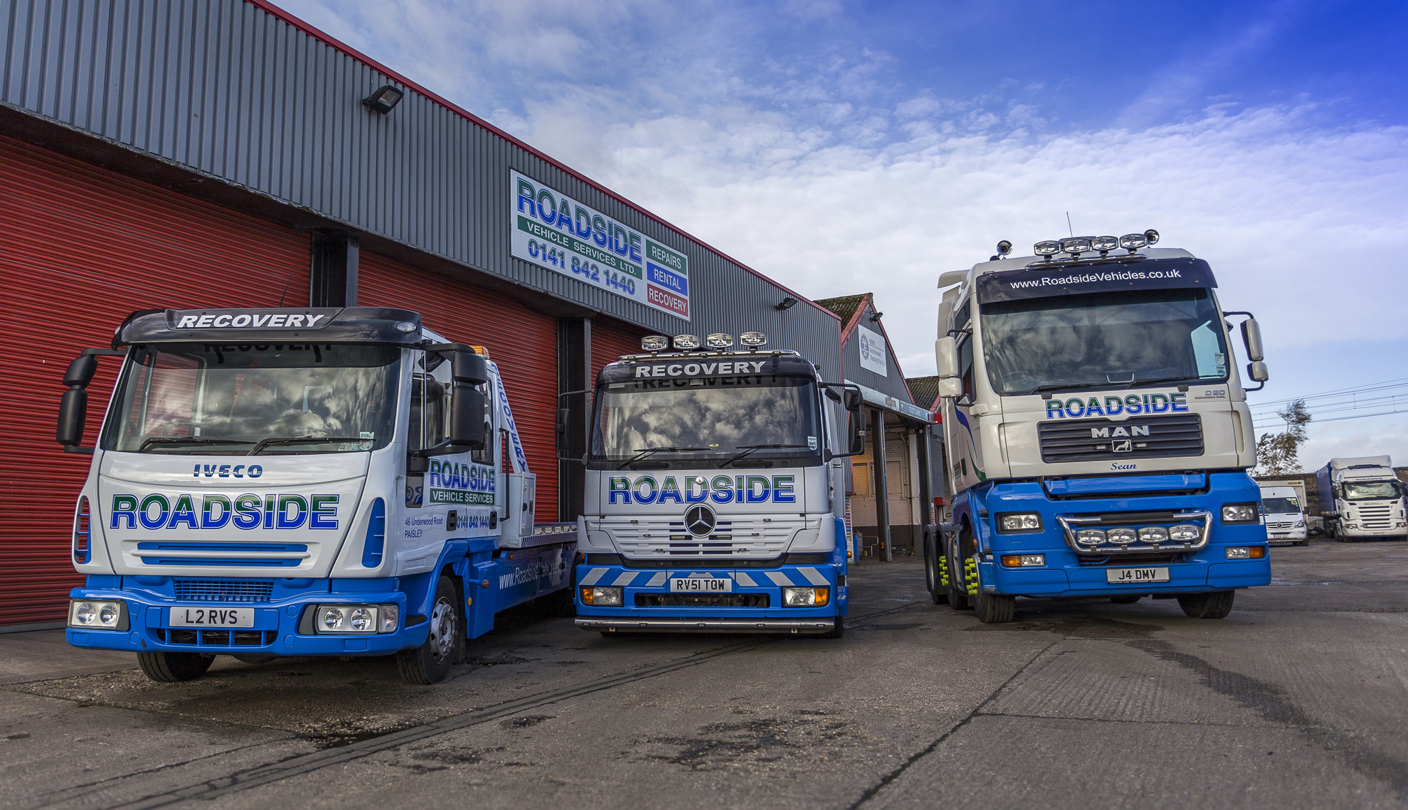 Roadside Vehicles offer a 24hr recovery service & a wide range of